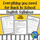 Everything you need for back to school - fully editable