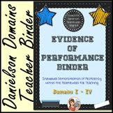 Evidence of Performance Binder (Chalkboard Theme)