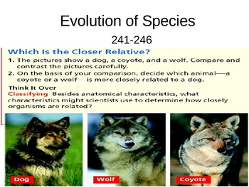 Evolution of Species PowerPoint Presentation