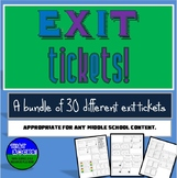 Exit Ticket Variety Pack for Middle School (Exit Slips)