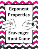 Exponent Properties Scavenger Hunt Game