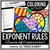 Exponent Rules: Coloring Activity