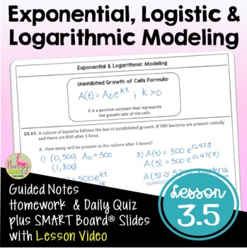 Lesson 2: Exponential & Logistic Modeling