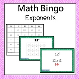 Exponents Bingo 6.EE.1