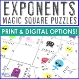 Exponents Magic Square Puzzle