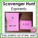 Exponents Scavenger Hunt 6.EE.1