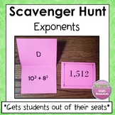 Exponents Scavenger Hunt 6.EE.1