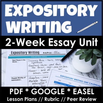 essay writing unit middle school