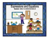Expressions and Equations: 6.EE.1 through 9