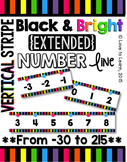 {Extended} Number Line (-30 - 215) - Bright & Black Vertic