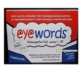 Eyewords Multisensory Sight Word Flashcard/Wordwall Cards 1-50