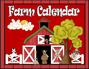 FARM FRIENDS CALENDAR PIECES AND DESK PLATES