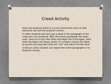 FFA Creed Paragraph 1 Activity
