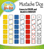 FREE Mustache Dice Clip Art Set — Over 40 Graphics!