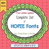 FONTS for Teachers {HOPIE Fonts} For Commercial or Personal Use
