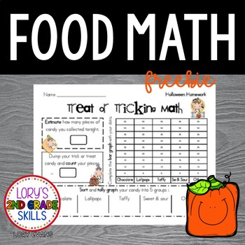 FOOD MATH - Trick or Treat Graphing FREEBIE