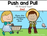 All Around Town {Push and Pull Sort Sheet} for Kindergarte