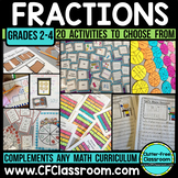 FRACTIONS Bundle: (Common Core 3.NF.1, 3.NF.2, 3.NF.3, 4.NF.1 )
