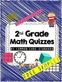 FREE 2nd Grade Common Core Math Quizzes-Sample