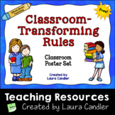 FREE 5 Classroom-Transforming Rules - Poster Set for Whole