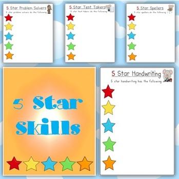 5 Star Skills Posters