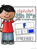 FREE Alphabet Pin It's { Alphabet and Color Assessment Cards }