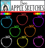 (FREE) Apple Sketches Clip Art