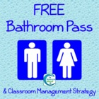 FREE Bathroom Pass for Secondary Students
