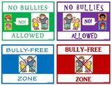 FREE!!  Classroom Mini-Posters (No Bullies Allowed / Bully