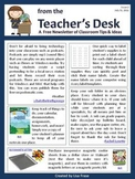 FREE Classroom Tips & Ideas Newsletter - Issue 2