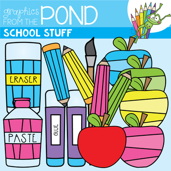 School Clip Art FREEBIE - Graphics From the Pond