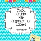 FREE Copy, Grade, File Organization Labels