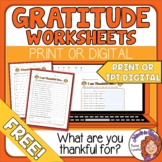 "FREE Creative, ""What are You Thankful For?"" Worksheets"