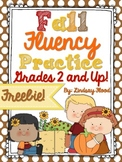 {FREE} Fall Fluency Practice {Grades 2 & Up!}