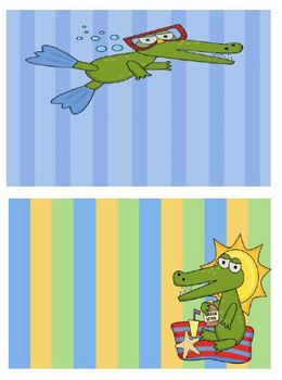 FREE Blank Labels for Your Classroom - Gator Beach Themed