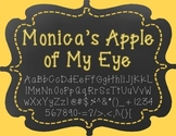 {FREE} Font - Monica's Apple of My Eye