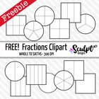 FREE! Fractions Clipart ~ Black & White Outlines