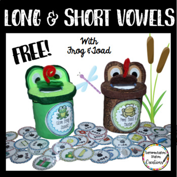 FREE!! Frog and Toad: Sort Long and Short Vowel Words
