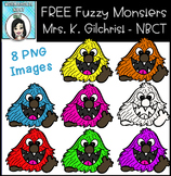(FREE) Fuzzy Monsters Clip Art