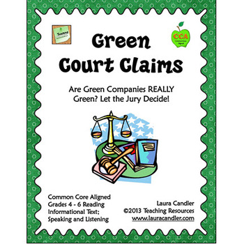 FREE Green Court Claims Environmental Science Lesson