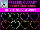 (FREE) Heart Sketches Clip Art