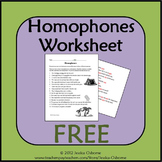 Homophones Identifying (FREE)