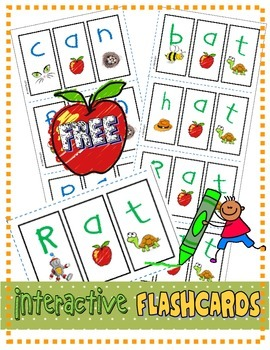 "FREE Interactive Phonics Segmenting Flashcards (CVC) ""Myst"