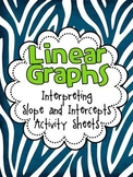 FREE Interpret Slope and Intercepts of Linear Graphs Activ