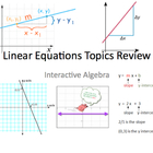 FREE: Linear Equations Topics Review PowerPoint
