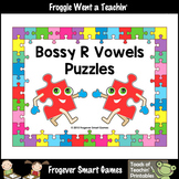 FREE Literacy Center--Bossy R Vowels Puzzles