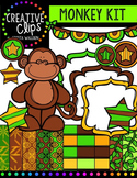Monkey Creative Kit {Creative Clips Digital Clipart}