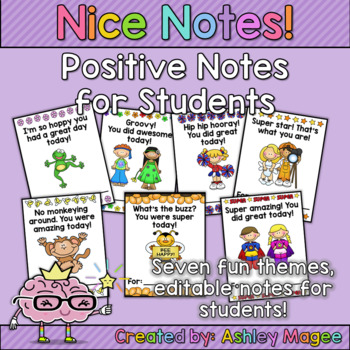 FREE! Nice Notes! Positive Notes for Students!