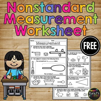 FREE  Non Standard Measurment Quiz Weight Temperature Capacity