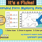 """FREE Place Value Expanded Form Mystery Picture """"It's a Fluke!"""""""